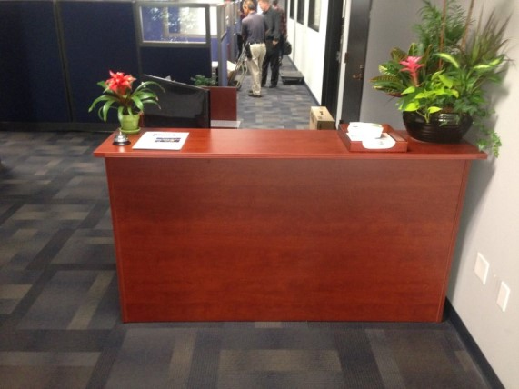 Smaller reception desk