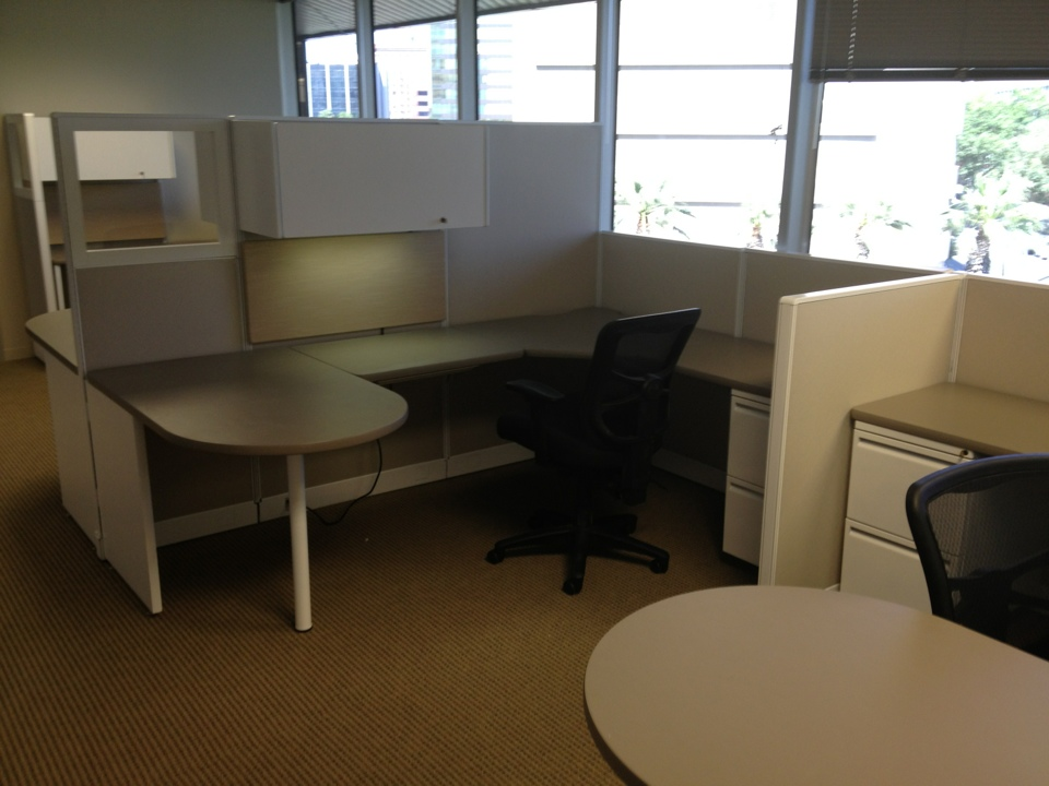 Cubicles in a private office