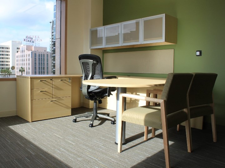 Desks + Private Office