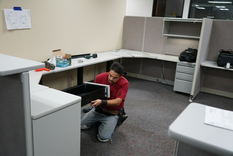 Office Furniture Installation Team