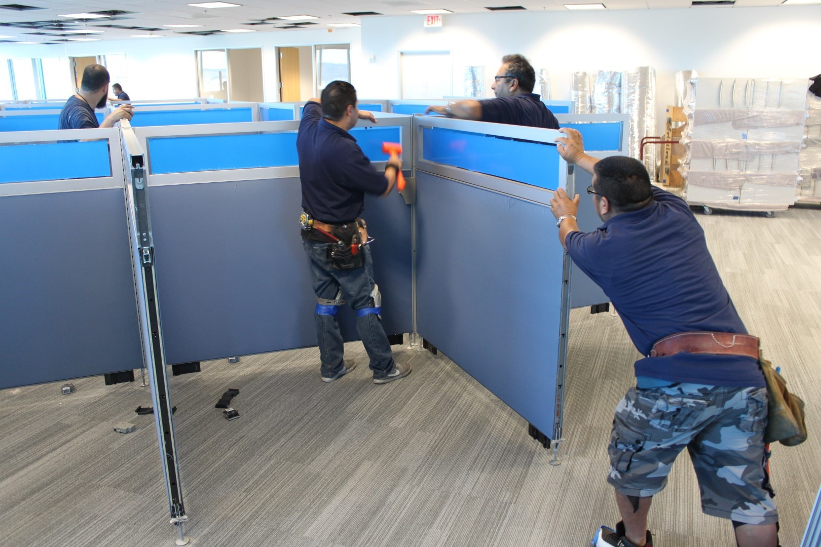 professional office furniture installation team